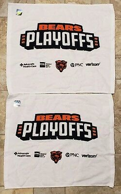 TWO (2) Chicago Bears PLAYOFFS Rally Towels 2018 WILD CARD WEEKEND 1/6/19
