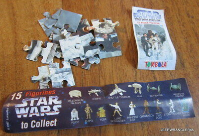 Star Wars Puzzle Tombola / Leia Complet + Bpz Comme Kinder