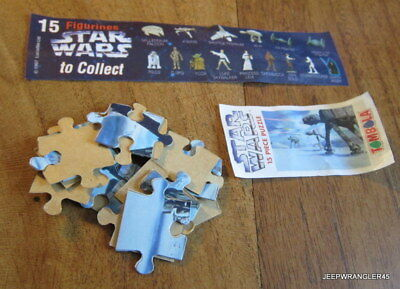Star Wars Puzzle Tombola / At-At Complet + Bpz Comme Kinder