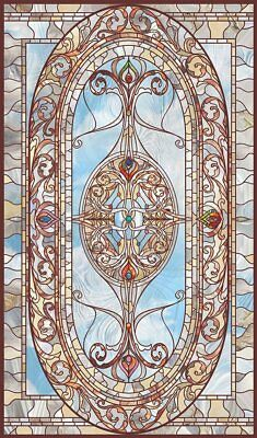 4 sheets 18x27cm each transparent Window sticker Self Adhesive Stained Glass t3k