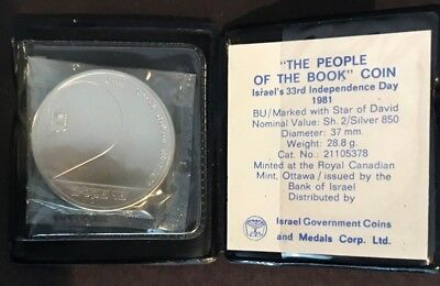 Israel 2 Sheqalim 1981 ✪ 33rd Independence Day with Original Case ✪ World Silver