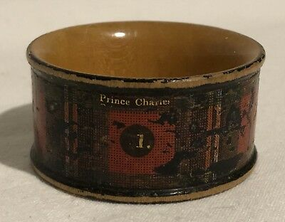 "Antique Tartan Ware ""Prince Charles"" Napkin Serviette Ring"