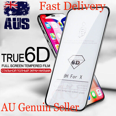 Apple iPhone 6D curved HD clear tempered glass screen protector for x xs Max xr