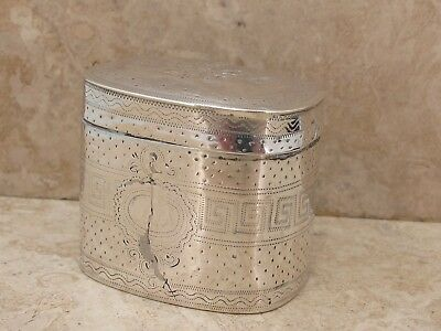 Antique Georgian Sterling Silver Pill Patch Box
