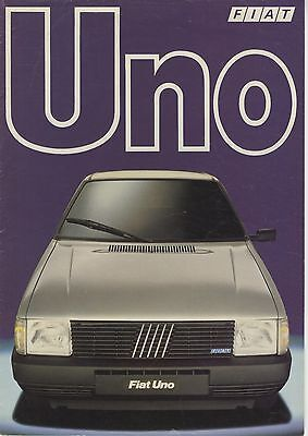 FIAT - Uno brochure/prospekt/folder Dutch 1983