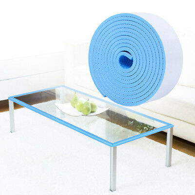 Home Blue Sponge Adhesive Tape Baby Finger Protect Safe Guard Door Stop Tool Z
