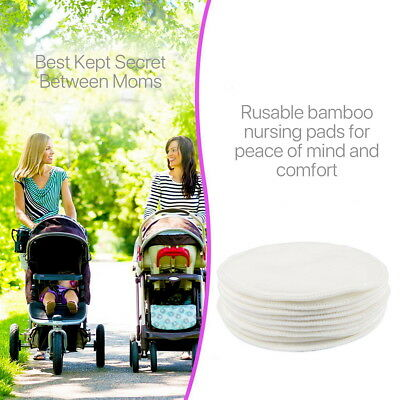10 20 Breast Pads Bamboo Reusable Nursing Breastfeeding Cloth Plain Washable