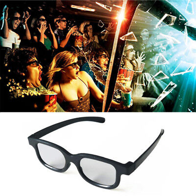 3D Glasses Plastic Polarizing Stereo Glasses For 3D TV and Real D Cinema Movie
