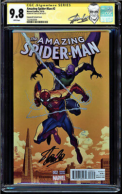 Amazing Spider-Man #2 Cgc 9.8 Ss Stan Lee Camuncoli Variant Cover #1227830009