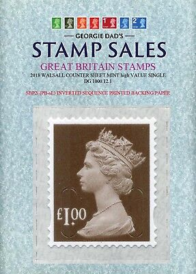 09/05/2018 £1.00p M18L CS Mint Single SBP2i PB-sL Inverted Printed Sequence