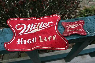 Lot of 2 Vintage Large & Small Miller High Life Beer Patch for Jacket Hat Shirt