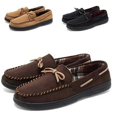 Men's Suede Loafers Outdoor Driving Shoes Lazy Moccasins Walking Flats Slip On