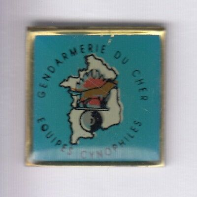 Rare Pins Pin's .. Gendarmerie Nationale Equipe Cynophile Chien Dog Cher 18 ~Ef