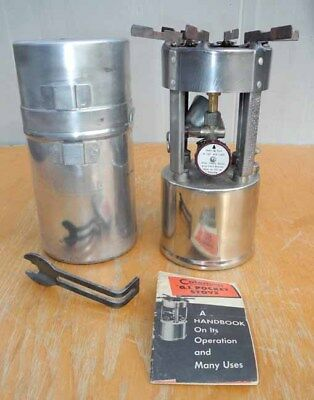 Coleman 530 Military Pocket Stove B46 With Case Instructions Camp Emergency