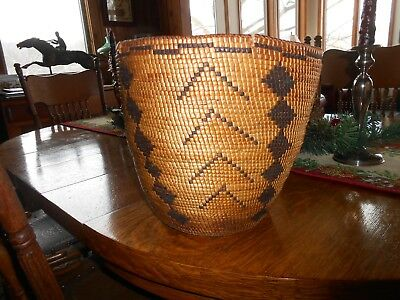 Indian Basket Antique Unusual Design & Shape Old