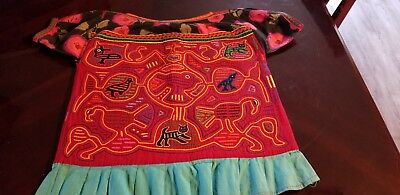 Vintage mola double sided  blouse by the Kuna Indians in the San Blas Islands.