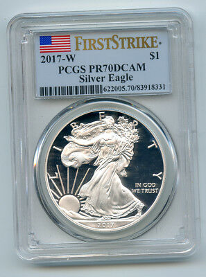 2017 W Silver Eagle First Strike PR70DCAM PCGS West Point NY