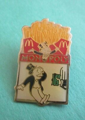 Monopoly Guy Under Order of  French Fries  McDonald's Pin