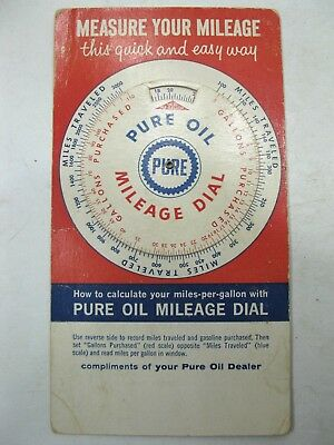 1960 PURE OIL Mileage Dial Vintage Advertising