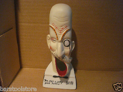 Vintage 1940's Figural Bisque Open Mouth Man's Head Ashtray - Occupied Japan