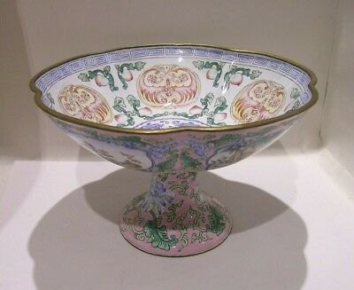 Chinese Enamelled Hand Painted Comport