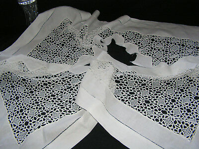 Bful Antique Richly Hand Worked Decorative Large Triangle Shaped Lace Trim