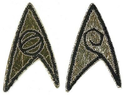 PATCH PAIR Star Trek TOS insignia Science Engineering '70s vintage SPOCK SCOTTY