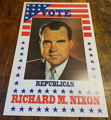 Richard M. Nixon United States President Presidential Election Campaign Sign