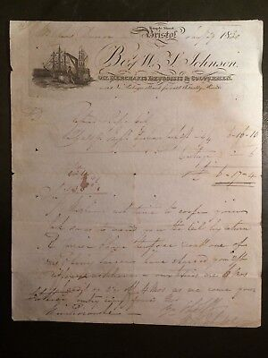 1820 Billhead from Oil Merchants, Druggists & Colourmen, Bristol to a Johnson