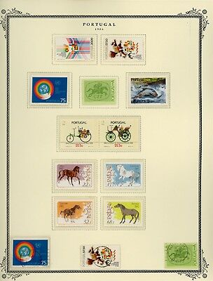 Portugal Scott Specialized Album Page Lot #125 - SEE SCAN - $$$