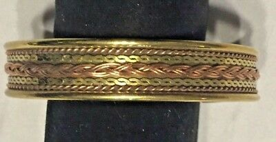 Copper and Brass Bracelet Southwestern Gallup New Mexico Style