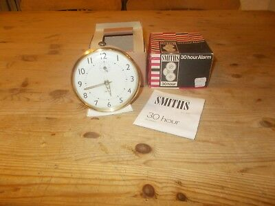 Vintage Retro Smiths Wind Up Alarm Clock Boxed Working Order