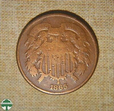 1865 - Two-Cent Penny - Good Details