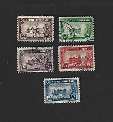 THAILAND sc#238-42 (1940) Complete Used