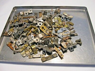 1# Vtg Scrap Silver Contacts Unclean for Recovery