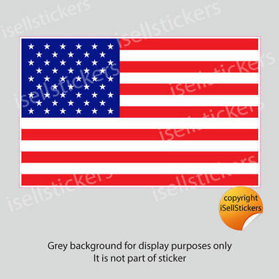 FL-15000 Mini USA United States American Flag Bumper Sticker Vinyl Window Decal