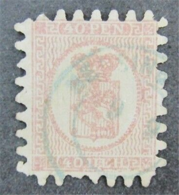 nystamps Finland Stamp # 10b Used $85