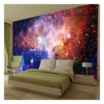 Space Galaxy Stars Planets Wallpaper Mural Photo Kids Bedroom Home