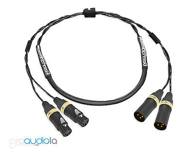 Premium 2 Channel Mogami 2930 SnakeNeutrik Gold XLR F to TRSBlue 2 ft.