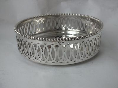 Dutch Solid Silver Wine Coaster 1966/ Dia 11 cm/ 137 g