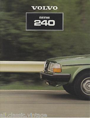 VOLVO - 240 brochure/prospekt/folder Dutch 1981