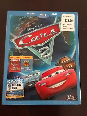 Cars 2 (Blu-ray/DVD, 2011, 2-Disc Set) slipcover included