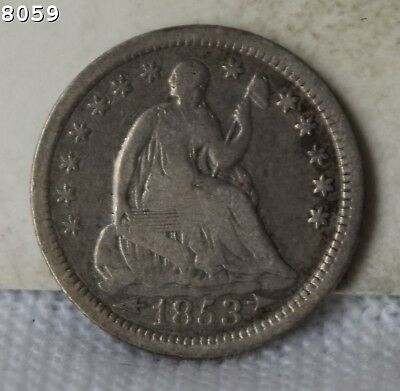 """1853 Liberty Seated Half Dime """"Fine"""" *Free SH After 1st Item*"""