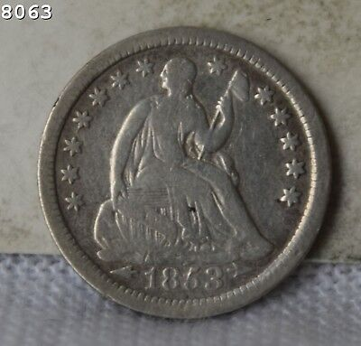 """1853-O Liberty Seated Half Dime """"F/VF"""" *Free SH After 1st Item*"""