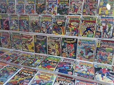 VINTAGE Spider-Man ONLY 180 Comic Lot Bronze Silver Amazing Spectacular Team-Up