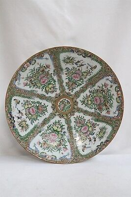 19c Export Chinese Famille Rose Porcelain HUGE Low Butterflies Charger Plate