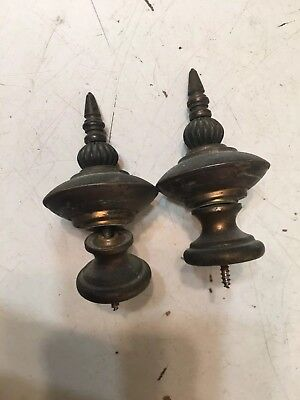 Antique Brass Finial Parts From Ithaca Grandfather Clock