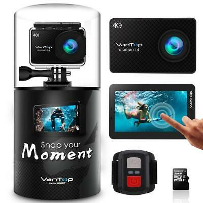 VanTop Moment 4 4K Sports Action Camera 20MP Sony Sensor, EIS, Touch Screen