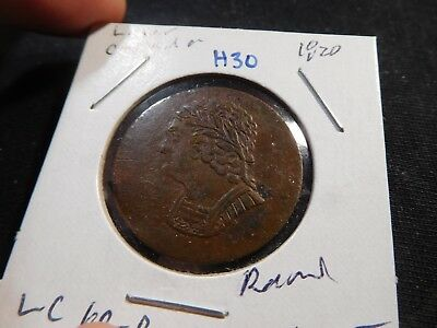 H30 Canada Lower Canada 1820 1/2 Penny Token LC-60B