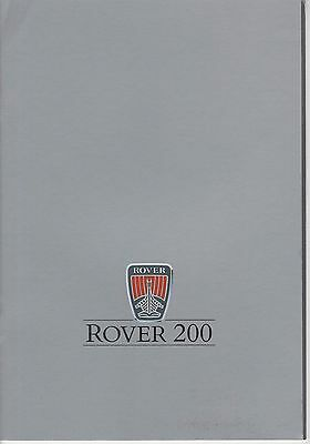 ROVER - 200 brochure/prospekt/folder Dutch 1987